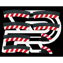 Slipstrook Binnenrand Bocht 3/30º 6 stuks + 2 eindstukken - 20592 - Carrera