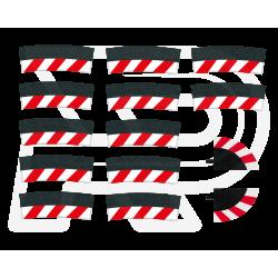 Slipstrook Buitenrand Kuipbocht 4/15º 12 stuks + 2 eindstukken - 20580 - Carrera