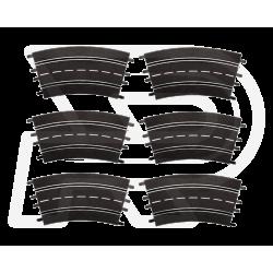 Bocht 3/30º Carrera 6 stuks | 20573