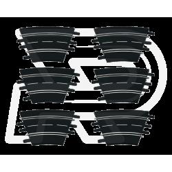 Bocht 1/30º 6 stuks - 20577 - Carrera Racebaan Evolution en Digital 132/124